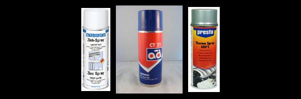 Spraydosen / Pinselflaschen