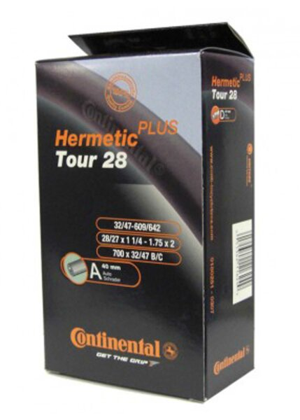 "schlauch conti tour 28 hermetic plus 27/28x1 1/4-1.75"" 32/47-622/635 av 40mm"