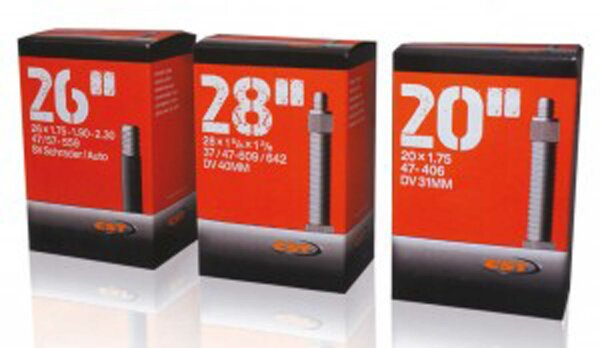 """schlauch fahrrad cst 28x1 1/8-1.75"""" 28/47-622/635 av40mm"""