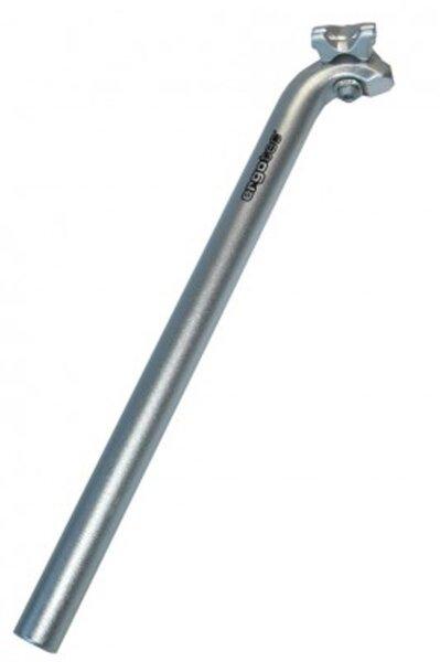 patentsattelstütze ergotec hook ø 28,6mm, 400mm, silber, alu