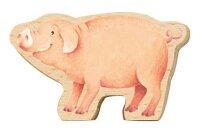 Spieltier aus Holz Schwein 21272  195