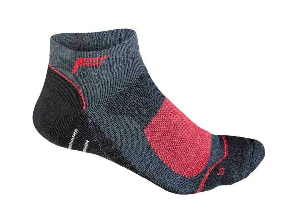 Socken F Mountainbike NT 200 Herren schwarz/rot Gr.39-42