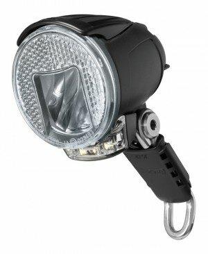 LED-Scheinwerfer Lumotec IQ Cyo RT senso plus mit Tagfahrlicht 40 Lux +Refl