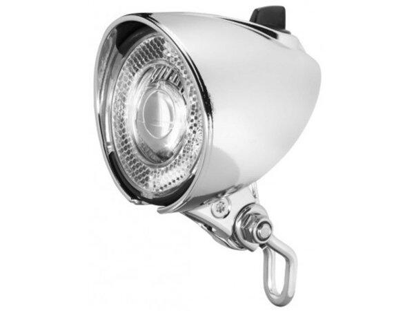 led-scheinwerfer b&m lum. classic n plus für nabendynamo mit schalter+standlicht