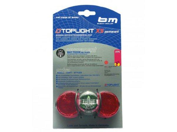 batterie-rücklicht b&m d-toplight xs permanent, mit standlicht