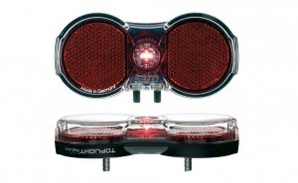 batterie-rücklicht b&m toplight flat permanent, batteriebetrieb mit schalter