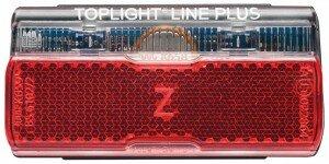 dynamo-diodenrücklicht b&m toplight line plus mit standlicht 50mm
