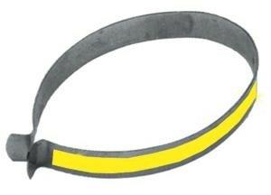 FASI Signal-Hosenklammern (Paar) Stahl, verchromt, gelb reflektierend
