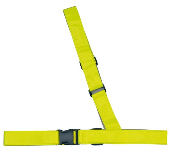 4-ACT Reflexschultergurt SB-verpackt, Hochglanz Reflex Material, 5 cm breit Bequeme universelle Anpassung, Schulterlänge