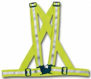 """4-ACT Reflexschärpe """"Cross Belt"""" SB-verpackt, 3M-Reflex Material, 5 cm breit Bequeme universelle Anpassung, Schulterläng"""