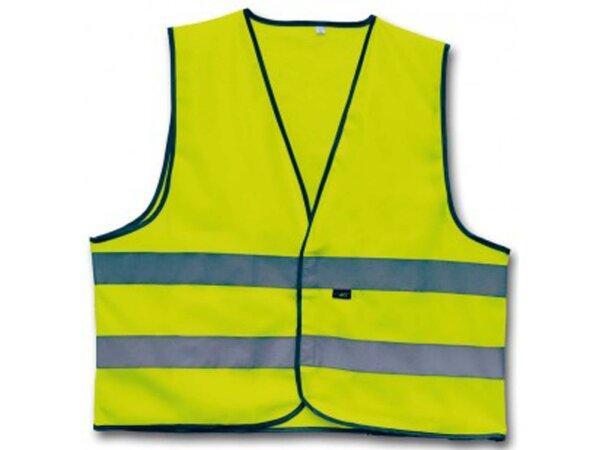 4-ACT Reflex-Kinderweste SB-verpackt, 3M-Reflex Material Klettverschluss vorne, gelb, Zertifiziert nach CE EN 1150 Gr. M