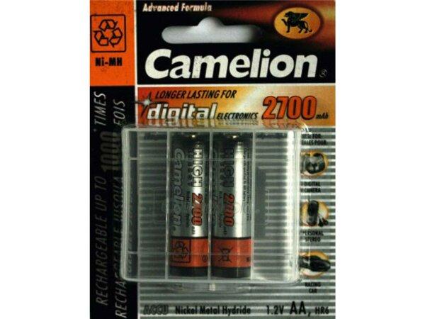 akku camelion mignon 2700mah 2 stück, nimh, 1,2v, aa