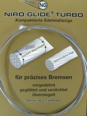 bremsinnenzug-edelstahl mit birnennippel 2050mm, ø 1,5mm, einzelverpackt