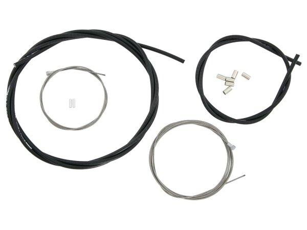 """FASI Niro-Glide Renn-Bremsset """"Turbo Plus"""" SB-verpackt , Salzresistent und schmutzabweisend, Komplettset für vorne und h"""