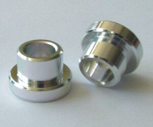 ks paar alu buchse auge dämpfer 12mm bohrung 8mm für 22,2mm aufbaustärke
