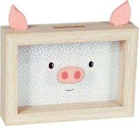 spiegelburg sparschwein-bilderrahmen viel glück