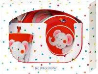 spiegelburg melamin-geschenkset elefant - freche rasselbande