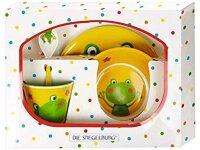 spiegelburg melamin-geschenkset frosch  freche rasselbande