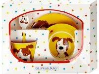 spiegelburg melamin-geschenkset hund  freche rasselbande