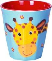 spiegelburg melamin-becher giraffe  freche rasselbande