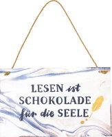 """Spiegelburg Holzschild """"Lesen ist..."""