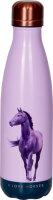 Spiegelburg Isolierflasche I LOVE HORSES, lila (ca. 0,5l)